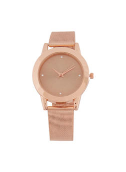 Metallic Mesh Strap Watch - 3140071434808
