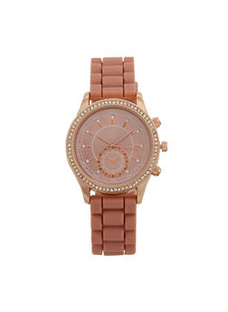 Rhinestone Silicone Watch - 3140071434902