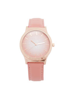 Ombre Watch with Faux Leather Strap - 3140071436130