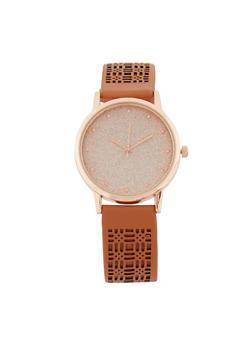 Laser Cut Glitter Watch - 3140071437031