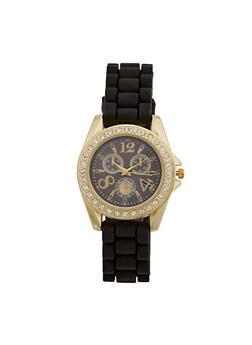 Silicone Woven Rhinestone Watch - 3140071438852