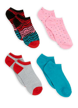Set of 4 Ankle Socks - PINK - 3143041454317