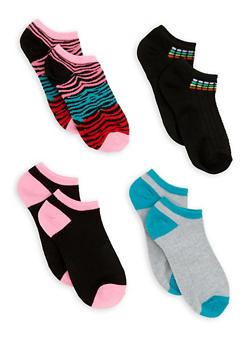 Set of 4 Ankle Socks - MULTI COLOR - 3143041454317