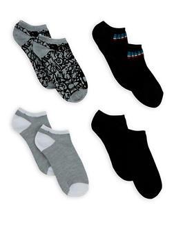 Set of 4 Ankle Socks - GRAY - 3143041454417