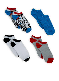 Set of 4 Ankle Socks - 3143041454417