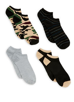 Set of 4 Ankle Socks - TAN - 3143041454518