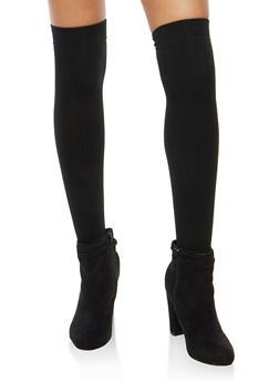 2 Pack Fleece Lined Over the Knee Socks - 3148068061110