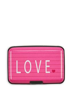 Love Notebook Print Card Wallet - 3163067442183
