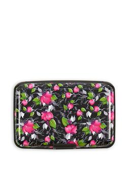 Floral Print Card Wallet - 3163067444181