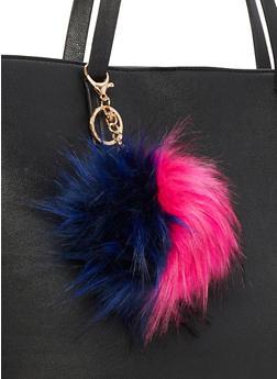 Multi Color Pom Pom Key Chain - 3163067446032