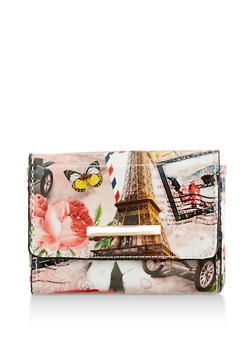 Small Rectangular Coin Purse - PINK/WHITE - 3163067447003