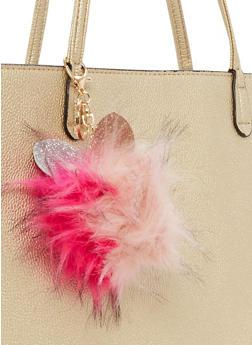 Glitter Ear Pom Pom Key Chain - 3163067447010
