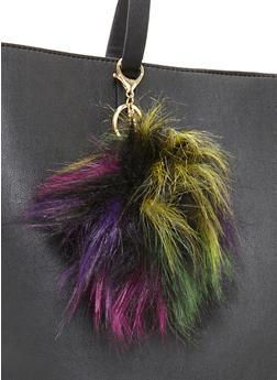 Multicolored Pom Pom Keychain - 3163067447015