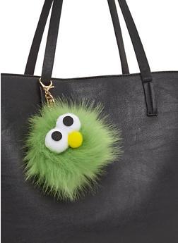 Googly Eye Pom Pom Keychain - 3163067447026