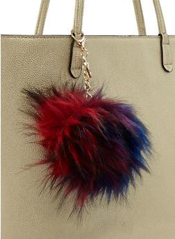 Multicolored Pom Pom Keychain - 3163067447029