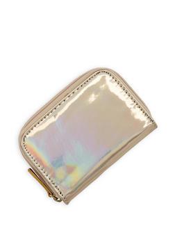 Mini Mirrored Metallic Zip Wallet - 3163067447082