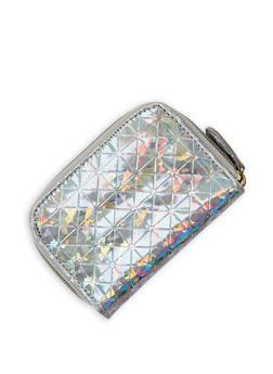Mini Embossed Zip Wallet - 3163067447083
