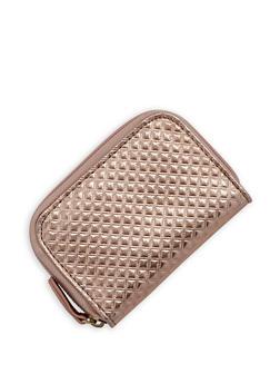 Mini Quilted Zip Wallet - 3163067447085