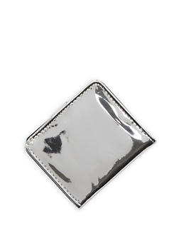 Mini Mirrored Metallic Bifold Wallet - 3163067447088
