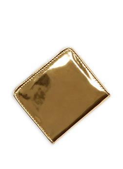 Mini Mirrored Metallic Bifold Wallet - 3163067447088