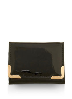 Small Faux Patent Leather Wallet - 3163067447095