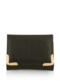 Small Chevron Texture Metallic Wallet - 3163067447096