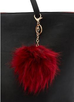 Faux Fur Pom Pom Keychain - 3163067447106