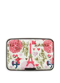 Paris Print Card Wallet - 3163067447272