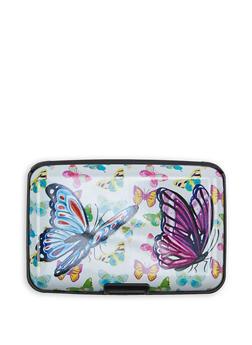 Butterfly Print Card Wallet - 3163067447777