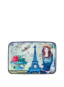 Paris Rose Accordion Card Wallet - 3163067448103