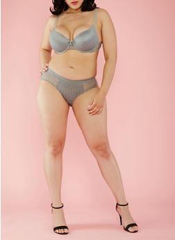 Plus Size Padded Lace Push Up Bra - 3169059290195