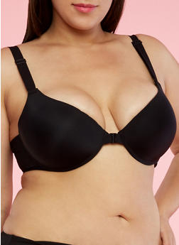 Plus Size Front Closure Push Up Bra - 3169059290200