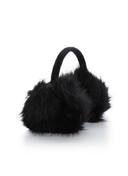 Faux Fur Earmuffs - BLACK - 3183067444702