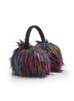 Multi Color Faux Fur Earmuffs - 3183067444703
