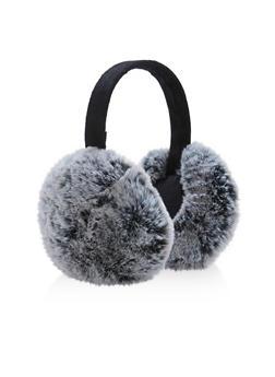 Two Tone Faux Fur Earmuffs - 3183067444704
