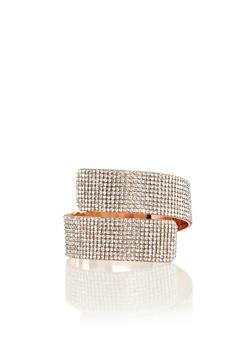 Rhinestone Pave Swirl Cuff Bracelet - 3193003202002