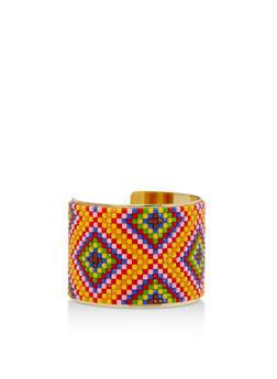 Beaded Cuff Bracelet - 3193018431440