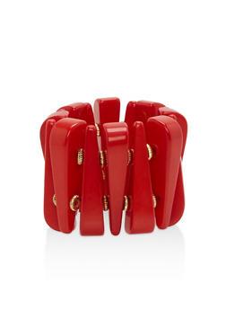 Solid Resin Stretch Bracelet - 3193018434118