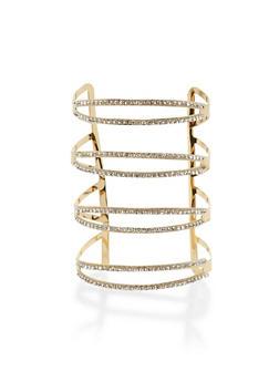 Rhinestone Encrusted Cuff Bracelet - 3193018435780