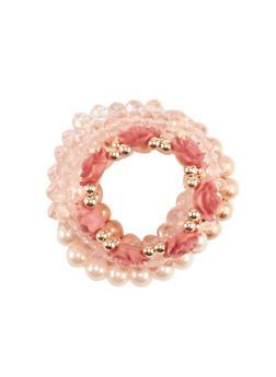 Flower Beaded Stretch Bracelets - 3193035153761