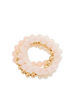 Set of 5 Beaded Stretch Bracelets - 3193035154770