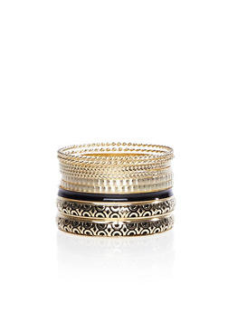 Assorted Stack of Bracelets with Filigree Cuff - 3193035155427