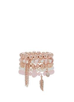 Set of 5 Beaded Bracelets - 3193035158495
