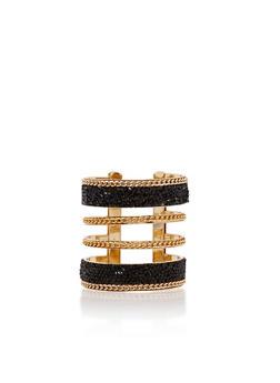 Druzy Stone Chain Link Cuff Bracelet - 3193057691010
