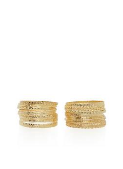 Set of Assorted Metallic Bangles - 3193057692289