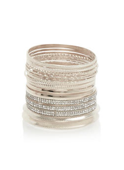 Plus Size Textured Bangles Set - 3193057694113