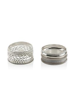 Set of 12 Multi Textured Wavy Glitter Bangles - 3193062920945