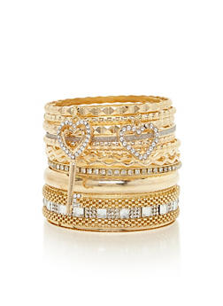 Set of 12 Assorted Bangles - 3193062920981