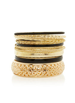 Plus Size Set of 12 Assorted Bangles - 3193062925442