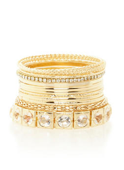 Plus Size Set of 12 Assorted Bangles - 3193062925690